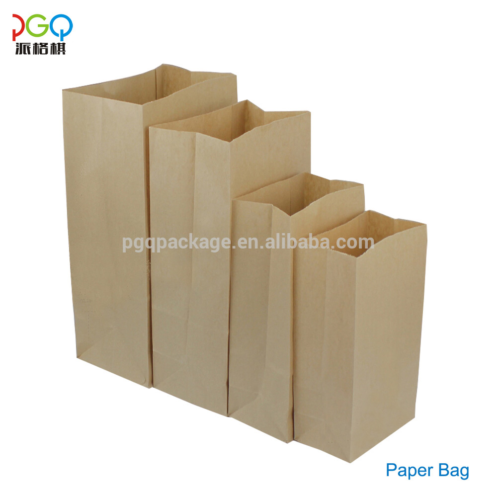 Hot selling brown colorful kraft paper packaging bag for bread